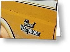 Jeep Grand Wagoneer Side Emblem Greeting Card