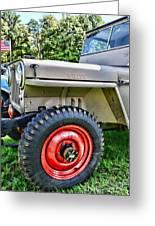 Jeep Willys Ww2 Greeting Card