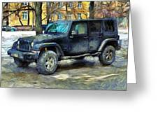 Jeep Wrangler Greeting Card