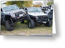 Jeeps In Juxtaposition Greeting Card