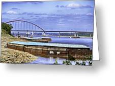 Jefferson Barracks Bridge A View From Cliff Cave Greeting Card