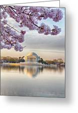 Jefferson Memorial In The Early Morning Greeting Card