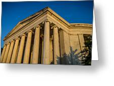 Jefferson Memorial Oblique Greeting Card