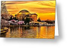 Jefferson Memorial Sunset Greeting Card