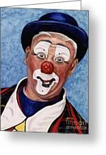 Watercolor Clown #11 Jeffrey Potts  Greeting Card