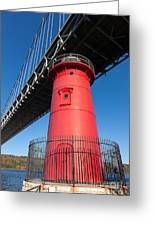 Jeffrey's Hook Lighthouse I Greeting Card