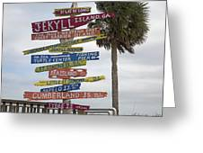 Jekyll Island Where To Go Greeting Card