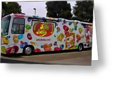 Jelly Belly On Wheels Greeting Card