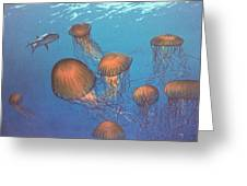 Jellyfish And Mr. Bones Greeting Card