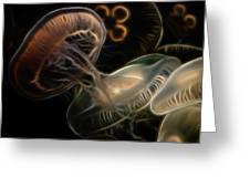 Jellyfish Digital Art Greeting Card