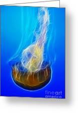 Jellyfish Fractal Greeting Card