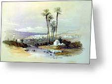 Jenin Ancient Jezreel 1839 Greeting Card