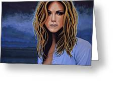 Jennifer Aniston Painting Greeting Card