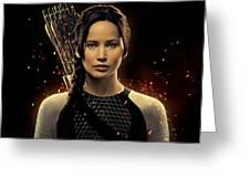 Jennifer Lawrence As Katniss Everdeen Greeting Card