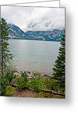 Jenny Lake In Grand Tetons National Park-wyoming  Greeting Card