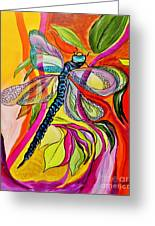 Jenny's Dragonfly In Acrylic Greeting Card