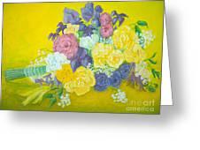 Jen's Wedding Bouquet Greeting Card by Paul Galante
