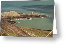 Jerbourg Point On Guernsey - 3 Greeting Card