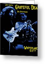Jerry And Billy At Winterland Greeting Card