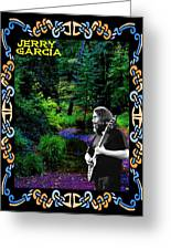 Jerry At Psychedelic Creek Greeting Card