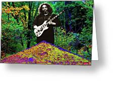 Jerry At The Cosmic Pyramid In The Woods  Greeting Card