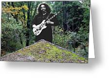 Jerry At The Pyramid In The Woods Greeting Card