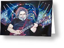 Jerry Garcia And Lights Greeting Card