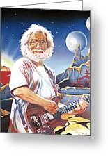 Jerry Garcia Live At The Mars Hotel Greeting Card