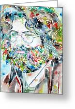 Jerry Garcia Watercolor Portrait.2 Greeting Card