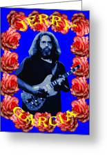 Jerry In Blue With Rose Frame Greeting Card