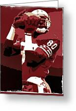 Jerry Rice Poster Art Greeting Card