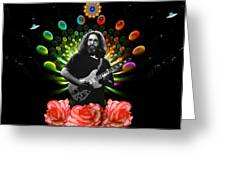 Jerry Spacepods Ufo Roses Under Cosmic Sun Greeting Card