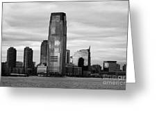 Jersey City New Jersey Waterfront And 10 Exchange Place New York City Greeting Card