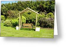 Jersey Garden Bench Greeting Card