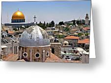 Jerusalem Old City Domes Greeting Card