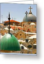 Jerusalem Old City Skyline Greeting Card