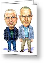 Jesse Pinkman And Walter White Greeting Card