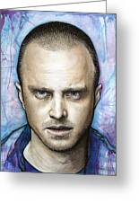 Jesse Pinkman - Breaking Bad Greeting Card by Olga Shvartsur