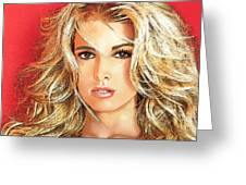 Jessica Simpson Greeting Card