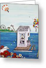 Jessica's Houseboat Greeting Card