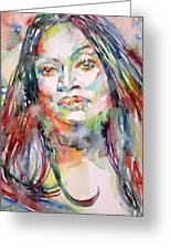 Jessye Norman - Watercolor Portrait Greeting Card