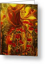 Jesus The Battle Of The Wicked-original Sold- Buy Giclee Print Nr 32 Of Limited Edition Of 40 Prints Greeting Card