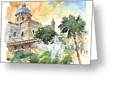 Jesus By Palermo Cathedral Greeting Card