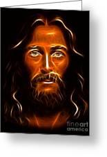 Brilliant Jesus Christ Portrait Greeting Card