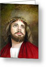 Jesus Christ Crown Of Thorns Greeting Card