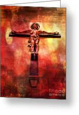 Jesus Christ On The Cross Greeting Card