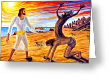 Jesus Evicting A Demon Greeting Card