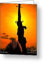 Jesus In Sunset 1 Hope Greeting Card