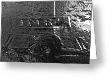 Jesus On The Cross Metal Sculpture Greeting Card