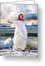 Jesus On The Sea Greeting Card